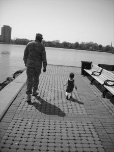 a soldier and his daughter